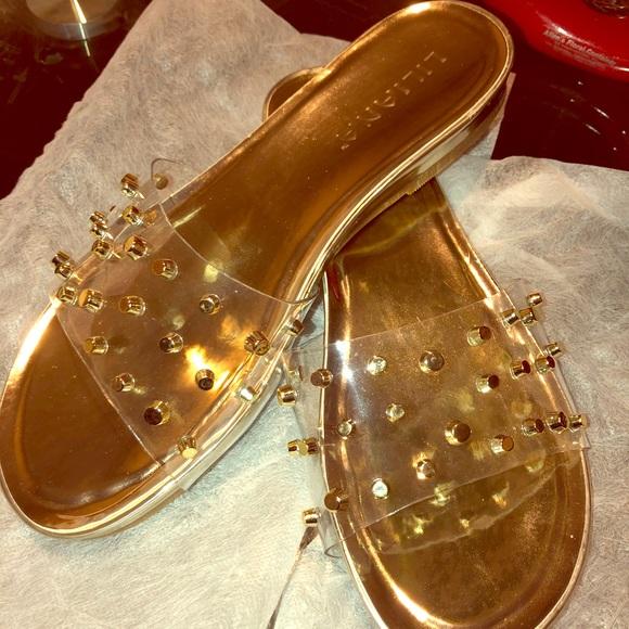 3e1cd4111d5e6 Fashion Nova Shoes | Gold Flat Sandals | Poshmark